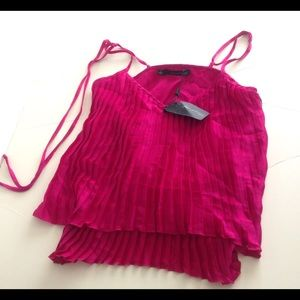 Anthropologie J Patterson Kincaid pink crinkle top